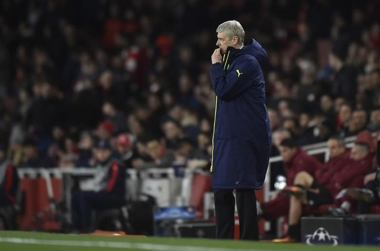 Britain Football Soccer - Arsenal v Bayern Munich - UEFA Champions League Round of 16 Second Leg - Emirates Stadium, London, England - 7/3/17 Arsenal manager Arsene Wenger  Reuters / Hannah McKay Livepic -