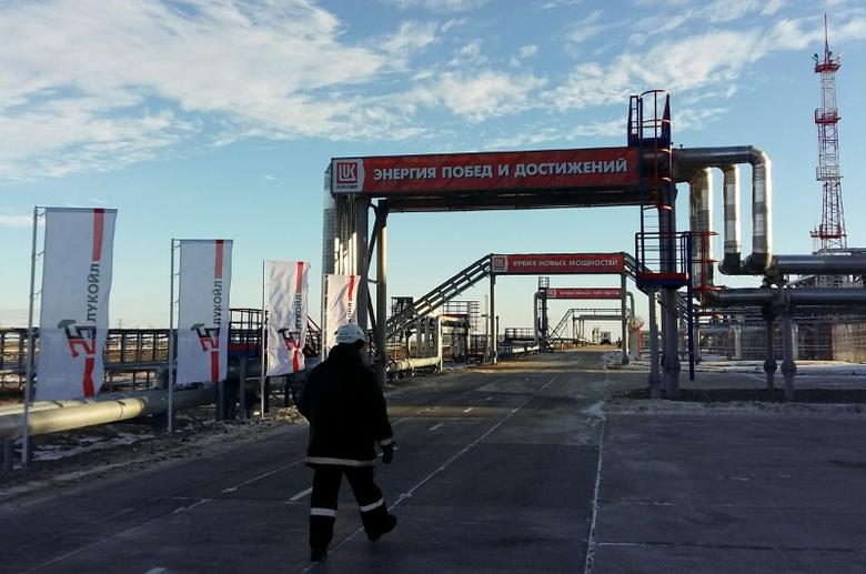 2016年10月,俄罗斯卢克石油公司旗下Pyakyakhinskoye油田的生产设施。REUTERS/Olesya Astakhova
