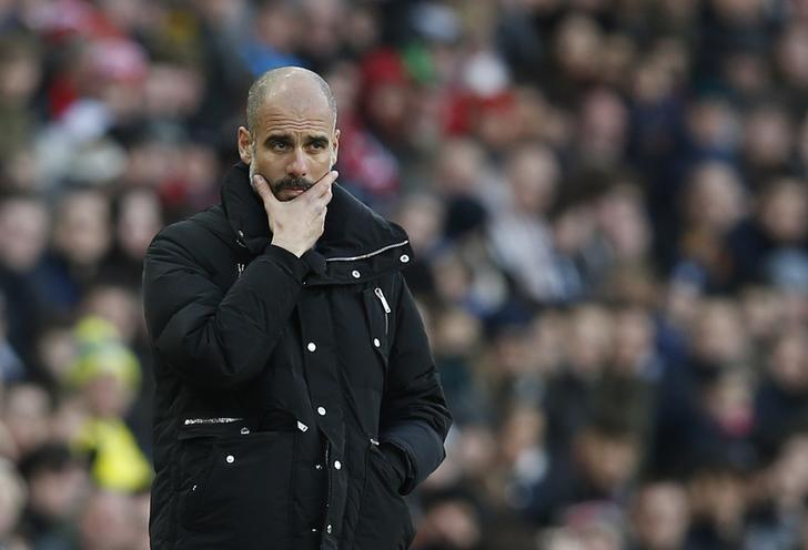 Britain Soccer Football - Sunderland v Manchester City - Premier League - Stadium of Light - 5/3/17 Manchester City manager Pep Guardiola  Reuters / Andrew Yates Livepic