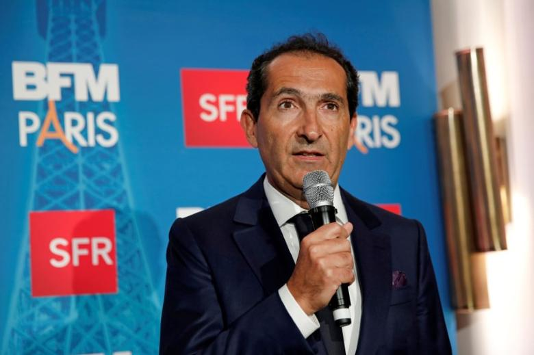 Patrick Drahi, Franco-Israeli businessman and Executive Chairman of cable and mobile telecoms company Altice, speaks during the launch of the news channel BFM Paris, in Paris, France, November 7, 2016. REUTERS/Benoit Tessier