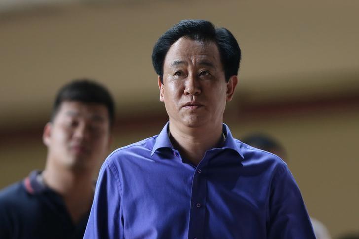 Xu Jiayin of Evergrande is seen in Guangzhou, Guangdong province, China, September 21, 2016. Picture taken September 21, 2016. REUTERS/Stringer/Files