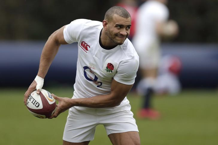 Britain Rugby Union - England Training - Pennyhill Park, Bagshot, Surrey - 9/2/17 England's Jonathan Joseph during training Action Images via Reuters / Henry Browne