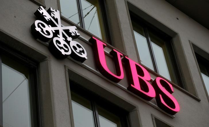 The logo of Swiss bank UBS is seen at an office building in Zurich, Switzerland January 27, 2017. REUTERS/Arnd Wiegmann