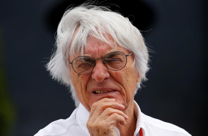 FILE PHOTO - Formula One supremo Bernie Ecclestone looks on before the Hungarian F1 Grand Prix at the Hungaroring circuit, near Budapest, Hungary July 26, 2015. REUTERS/Laszlo Balogh/File Photo