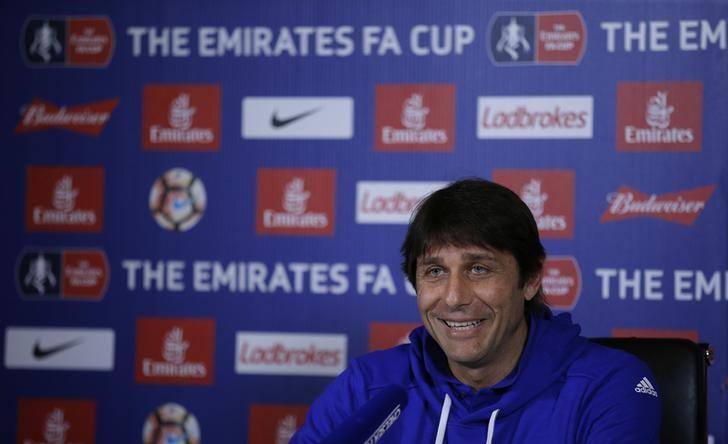 Britain Football Soccer - Chelsea - Antonio Conte Press Conference - Chelsea Training Ground - 10/3/17 Chelsea manager Antonio Conte during the press conference  Action Images via Reuters / Andrew Couldridge Livepic