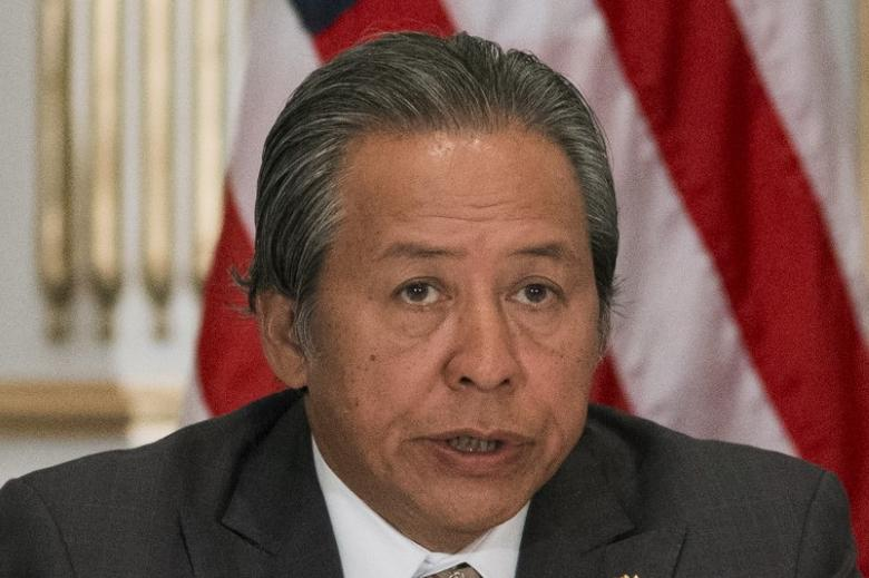 Malaysia's Foreign Minister Anifah Aman speaks during an Association of Southeast Asian Nations (ASEAN) meeting at the Lotte New York Palace hotel, on the sidelines of the the United Nations General Assembly in Manhattan, New York September 30, 2015. REUTERS/Darren Ornitz
