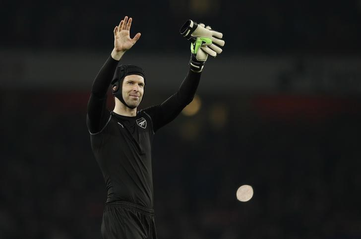 Britain Football Soccer - Arsenal v Lincoln City - FA Cup Quarter Final - The Emirates Stadium - 11/3/17 Arsenal's Petr Cech celebrates after the game  Action Images via Reuters / John Sibley Livepic