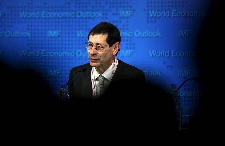 Maurice Obstfeld, Economic Counsellor and Director, Research Department of IMF delivers the International Monetary Fund's media briefing on the world economic outlook during its annual meeting in Lima, Peru, October 6, 2015. REUTERS/Mariana Bazo
