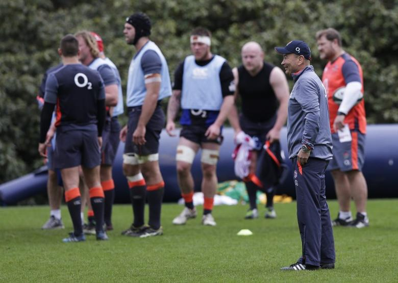 Britain Rugby Union - England Training - Pennyhill Park - 14/3/17 England head coach Eddie Jones during training Action Images via Reuters / Henry Browne Livepic