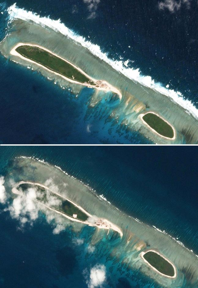 china begins new work on disputed south china sea island reuters