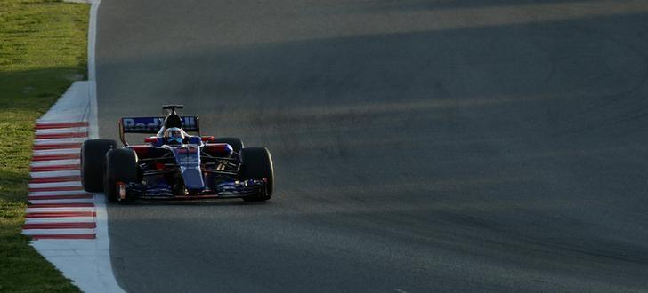 Formula One - F1 - Test session - Barcelona-Catalunya racetrack in Montmelo, Spain - 10/3/17. Toro Rosso's Carlos Sainz in action. REUTERS/Albert Gea