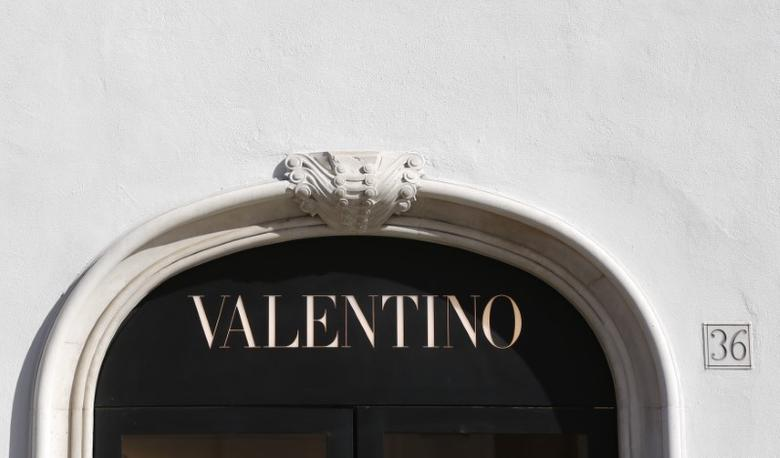The logo of Valentino is seen in a shop in downtown Rome, Italy February 10, 2016. REUTERS/Tony Gentile