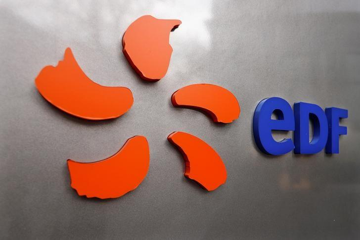 The logo of France's state-owned electricity company EDF is seen on the company's headquarters in Paris, France, November 24, 2016.  REUTERS/Charles Platiau/files