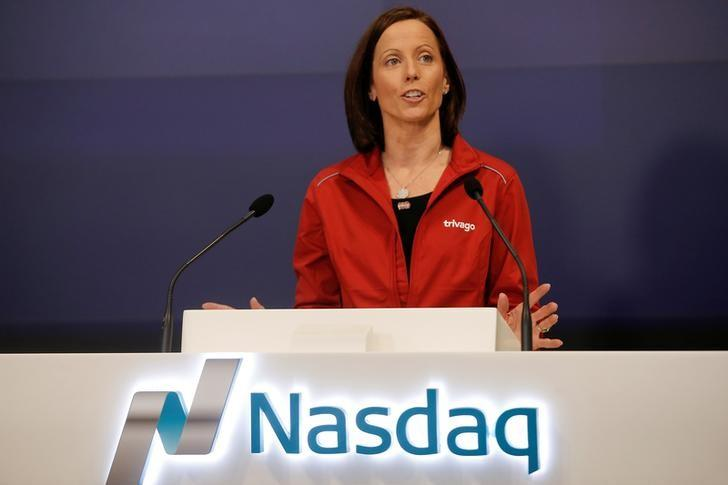 Incoming CEO of the Nasdaq Stock Market Adena Friedman speaks ahead of the initial public offering of Trivago (TRVG), the hotel search platform, at the Nasdaq Market Site in New York, U.S., December 16, 2016. REUTERS/Mike Segar