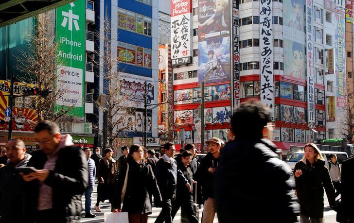 2017年1月10日,日本东京街头。REUTERS/Toru Hanai