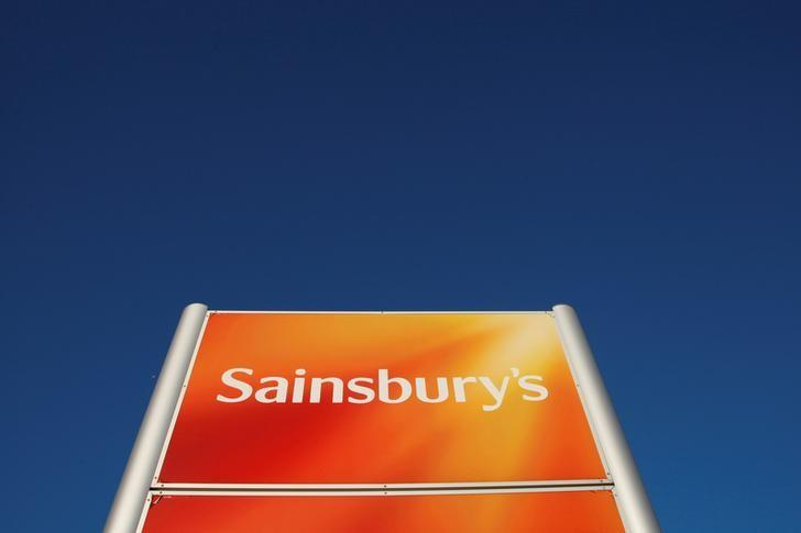 A Sainsbury's supermarket sign is seen in Brighton, Britain, January 7, 2010. REUTERS/Luke MacGregor/File Photo