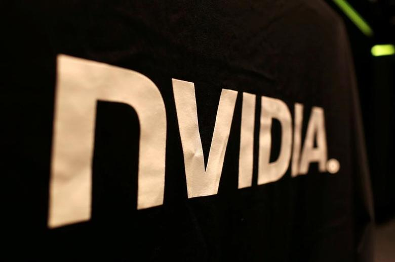 The logo of technology company Nvidia is seen at its headquarters in Santa Clara, California February 11, 2015.  REUTERS/Robert Galbraith/File Photo