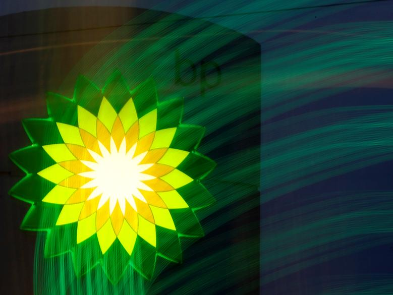 A BP logo is seen at a fuel station of British oil company BP in St. Petersburg, October 18, 2012.    REUTERS/Alexander Demianchuk/File Photo