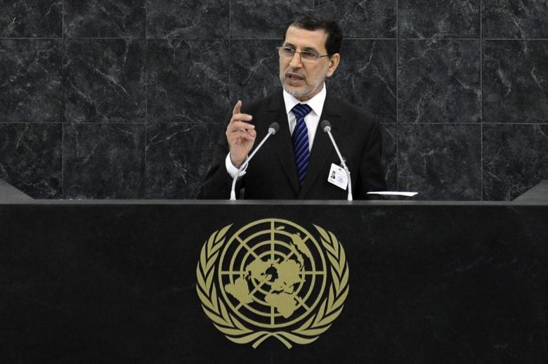 Saad Eddine El Othmani addresses the 68th session of the United Nations General Assembly in New York September 30, 2013.  REUTERS/Adrees Latif