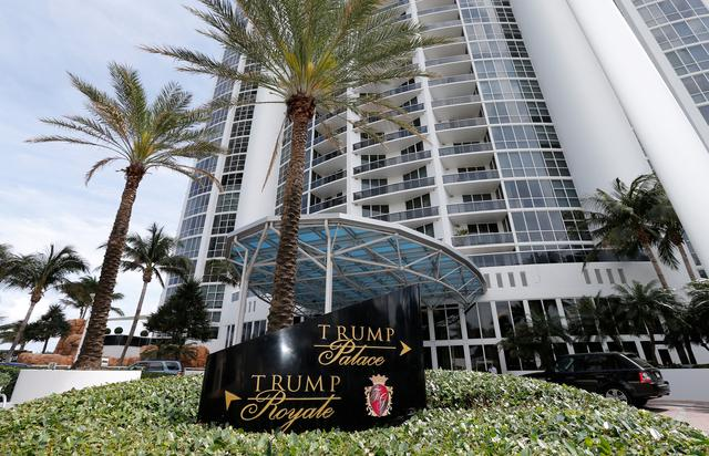 The Trump Palace condominium is shown in Sunny Isles Beach, Florida, U.S. March 13, 2017.      REUTERS/Joe Skipper