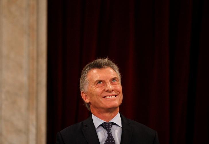 Argentina's President Mauricio Macri smiles during the opening of a new legislative session in Buenos Aires, Argentina March 1, 2017. REUTERS/Martin Acosta