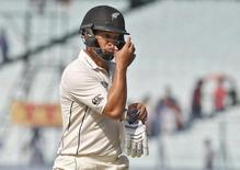 New Zealand's Ross Taylor walks of the field after his dismissal. India v New Zealand - Second Test cricket match - Eden Gardens, Kolkata, India - 03/10/2016. REUTERS/Rupak De Chowdhuri
