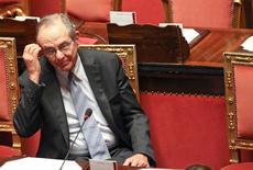 Il ministro dell'Economia Pier Carlo Padoan. REUTERS/Alessandro Bianchi