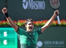 Le grand Federer est de retour/Photo prise le 20 mars 2017/REUTERS/� USA Today Sports / Reuters