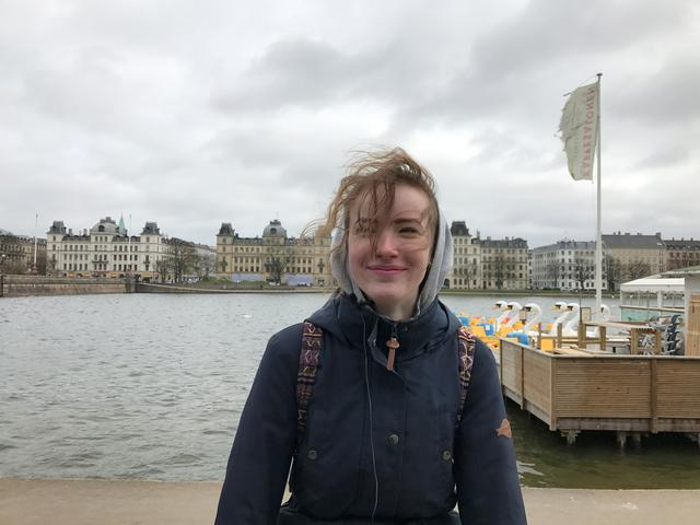 Maria Madsen Busk poses for a picture in Copenhagen, Denmark March 20, 2017.  ''I think Norway is happier than Denmark because they have more money ... I don't think it's sad because we all know how happy we are,'' she said. REUTERS/Stine Jacobsen
