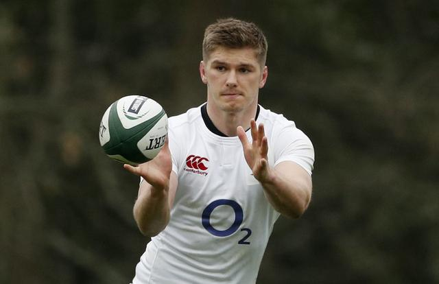 Britain Rugby Union - England Training - Pennyhill Park - 16/3/17 England's Owen Farrell during training Action Images via Reuters / John Sibley Livepic