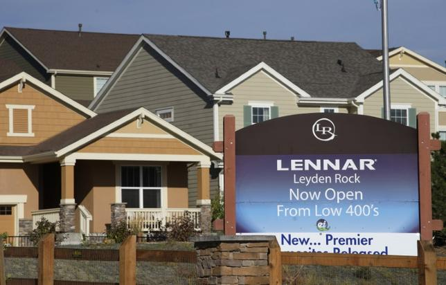 A Lennar model home is seen at a development in Arvada, Colorado September 17, 2014. REUTERS/Rick Wilking