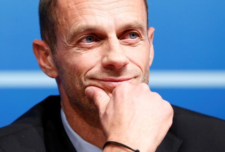 UEFA President Aleksander Ceferin attends a news conference after an Executive Board meeting in Nyon, Switzerland, December 9, 2016. REUTERS/Denis Balibouse/Files