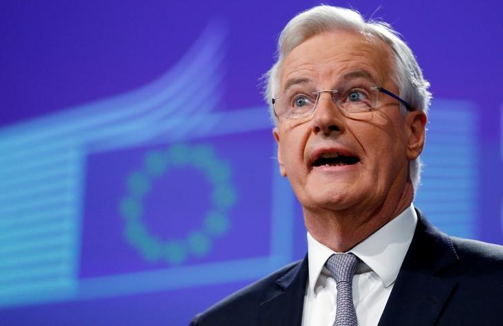 Michel Barnier, Chief Negotiator for the Preparation and Conduct of the Negotiations with the United Kingdom under Article 50 of the Treaty on European Union, holds a news conference at the EU Commission headquarters in Brussels, Belgium, December 6, 2016.  REUTERS/Francois Lenoir/File Photo