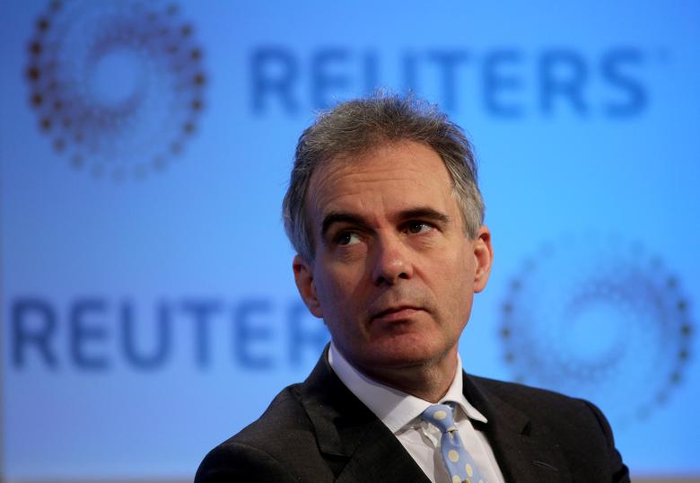 FILE PHOTO: Deputy Governor of the Bank of England Ben Broadbent listens to a question during a Reuters Newsmaker event at Canary Wharf in London, Britain November 18, 2015. REUTERS/Neil Hall/File Photo