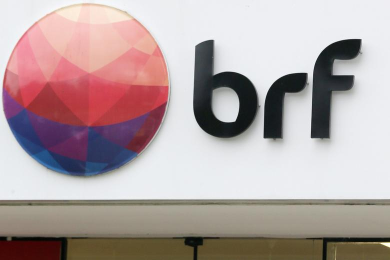 A meatpacking company BRF SA's logo is pictured in Sao Paulo, Brazil March 17, 2017. Picture taken March 17, 2017. REUTERS/Paulo Whitaker