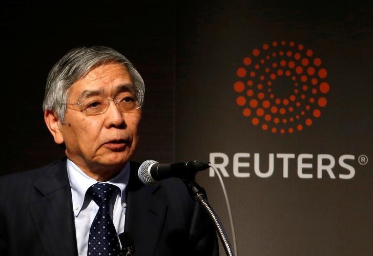 2017年3月24日,日本东京,日本央行总裁黑田东彦出席路透活动。REUTERS/Toru Hanai