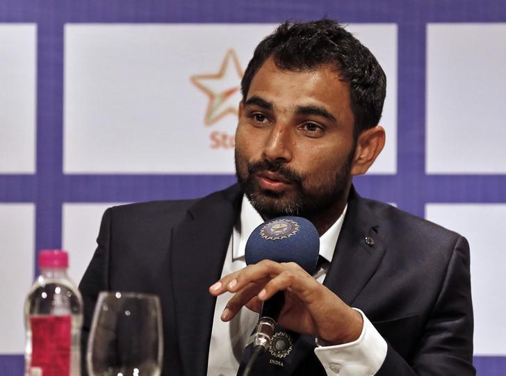 Indian cricketer Mohammed Shami speaks during a news conference in Mumbai, India January 5, 2016. REUTERS/Danish Siddiqui/Files