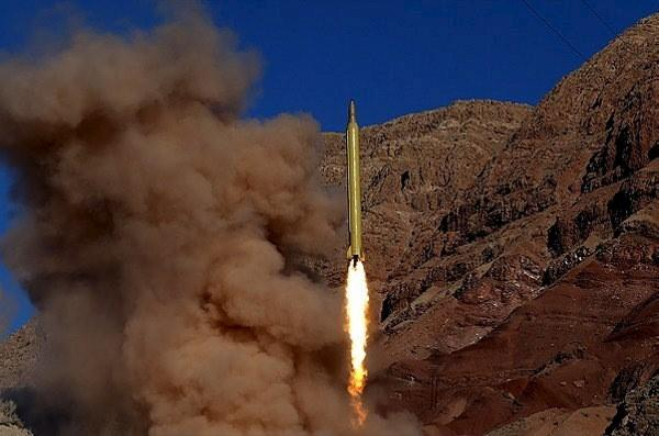 A ballistic missile is launched and tested in an undisclosed location, Iran, in this handout photo released by Farsnews on March 9, 2016. REUTERS/farsnews.com/Handout via Reuters