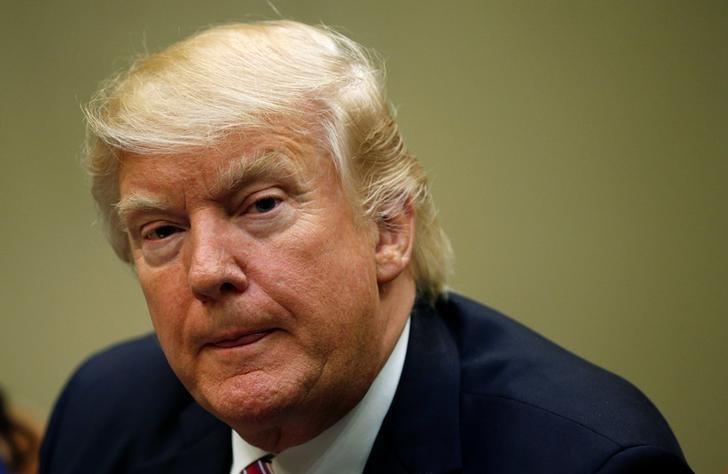 2017年3月22日,美国华盛顿,美国总统特朗普出席与医保改革有关的会议。REUTERS/Kevin Lamarque
