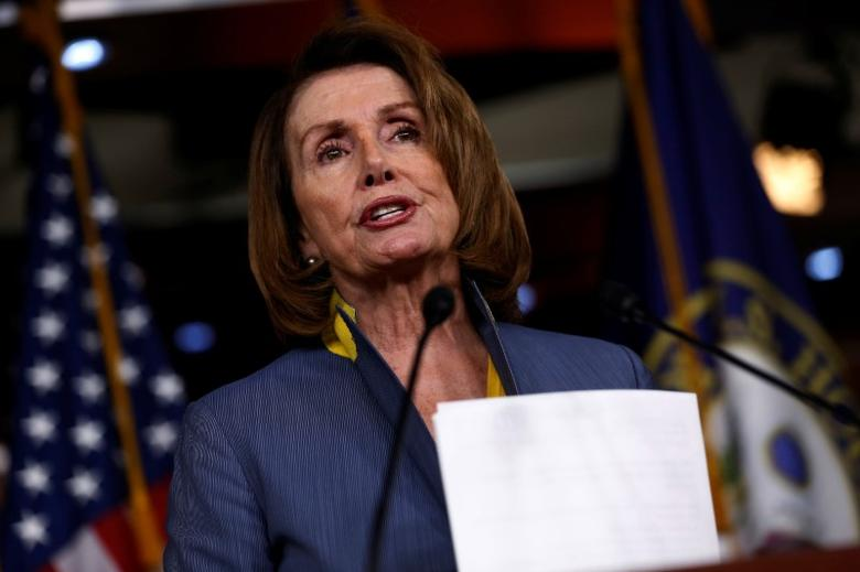 U.S. House Minority Leader Nancy Pelosi (D-CA) holds a news conference at the U.S. Capitol in Washington, U.S., March 23, 2017. REUTERS/Jonathan Ernst