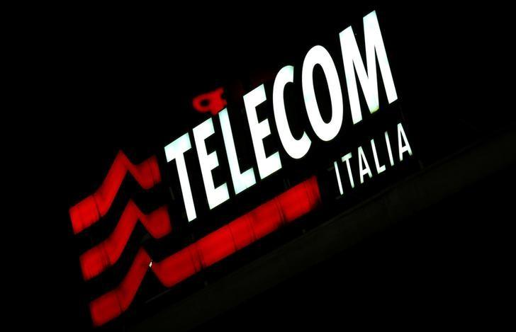 The Telecom Italy logo is seen at the headquaters downtown Milan, Italy, March 10, 2016.  REUTERS/Stefano Rellandini /File Photo