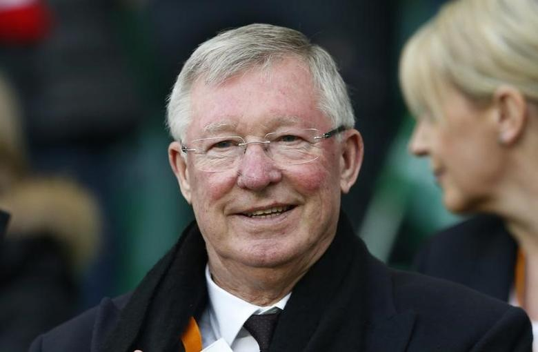 Soccer Football - Saint-Etienne v Manchester United - UEFA Europa League Round of 32 Second Leg - Stade Geoffroy-Guichard, Saint-Etienne, France - 22/2/17 Sir Alex Ferguson in the stands Action Images via Reuters / Andrew Boyers Livepic