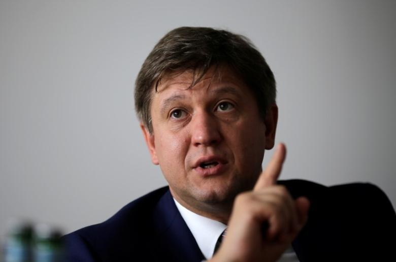 FILE PICTURE: Ukrainian Finance Minister Oleksandr Danylyuk speaks during an interview with Reuters in Berlin, Germany, August 30, 2016.     REUTERS/Joachim Herrmann