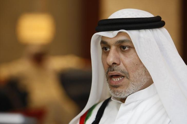 FILE PHOTO - Nasser bin Ghaith speaks to Reuters at his home in Dubai November 30, 2011. REUTERS/Nikhil Monteiro