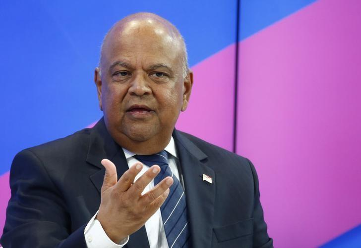 Pravin Gordhan, Minister of Finance of South Africa attends the World Economic Forum (WEF) annual meeting in Davos, Switzerland January 19, 2017.  REUTERS/Ruben Sprich
