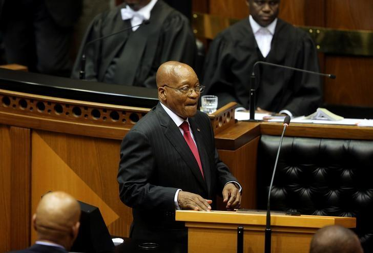 President Jacob Zuma delivers his State of the Nation Address (SONA) to a joint sitting of the National Assembly and the National Council of Provinces in Cape Town, South Africa February 9, 2017. REUTERS/Sumaya Hisham/Files