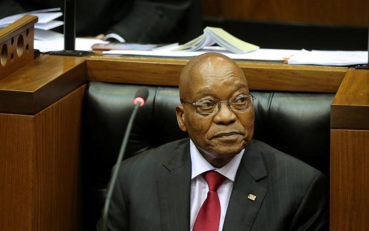 President Jacob Zuma during his State of the Nation Address (SONA) to a joint sitting of the National Assembly and the National Council of Provinces in Cape Town, South Africa February 9, 2017. REUTERS/Sumaya Hisham/Files
