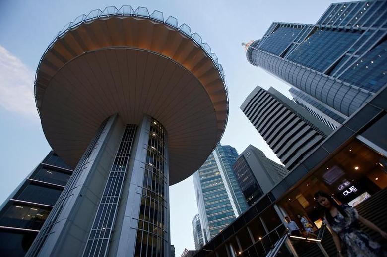 2016年8月8日,新加坡中央商务区。REUTERS/Edgar Su