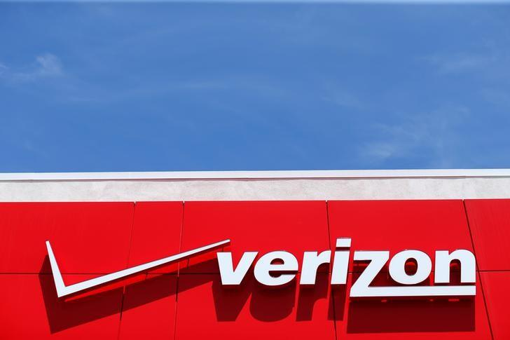 A Verizon sign is seen at a retail store in San Diego, California, U.S. on April 21, 2016.  REUTERS/Mike Blake/File Photo