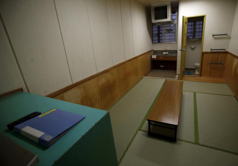 FILE PHOTO: An inside view of a shared cell is seen at the East Japan Immigration Center in Ushiku, Ibaraki prefecture, Japan, March 19, 2015. REUTERS/Yuya Shino/File Photo